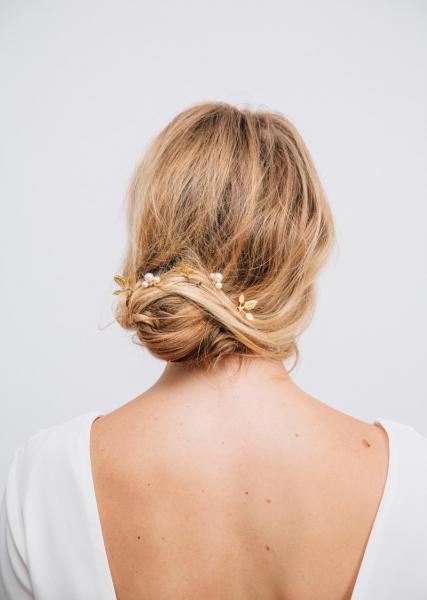 Gold Riviera Hair Pin