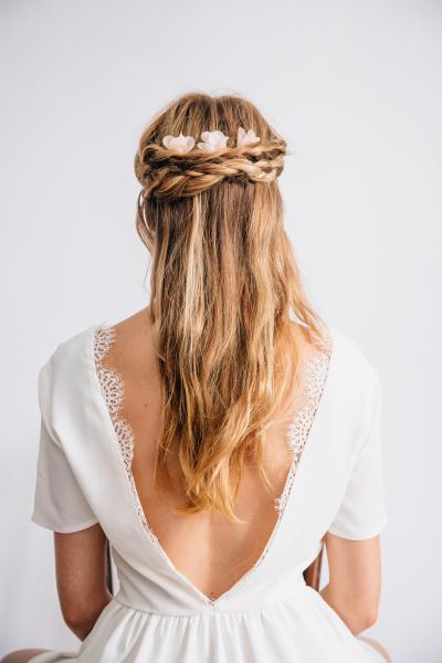Pics à cheveux Grace rose pâle